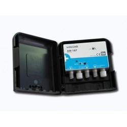 Amplificador de mástil 1 o 2 entradas, UHF+DAB  AM187