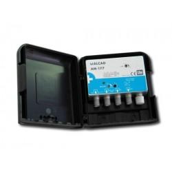 AM-177  Amplificador de mástil 1 o 2 entradas, UHF+DAB