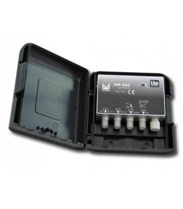 AM-266  Amplificador de mástil 2 entradas, UHF-DAB/FM