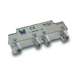 Derivador blindado, no compensado, conector F, 2 salidas a 11 dB