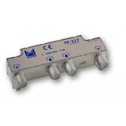 FP-217  Derivador blindado, no compensado, conector F, 2 salidas a 17 dB