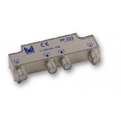 FP-223  Derivador blindado, no compensado, conector F, 2 salidas a 23 dB
