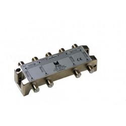 DI-802  Distribuidor blindado, conector F, 8 salidas con P.C. a 18 dB (2150 MHz)