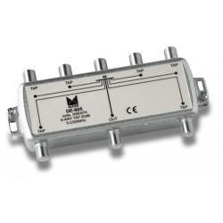 DE-605  Derivador 6 salidas a 24,5 dB, plano, 5 a 2300 MHz, blindado, con conector F