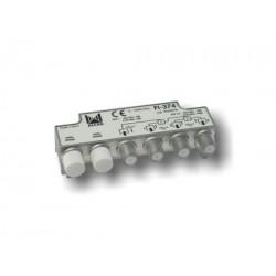 FI-374  Distribuidor 3 salidas, de 9 dB (862 MHz), 5 a 2400 MHz, con P.C., blindado, con conector F