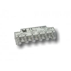 FI-594  Distribuidor 5 salidas, de 10,5 dB (862 MHz), de 15 dB (2150 MHz), 5 a 2400 MHz, con P.C., blindado, con conector F