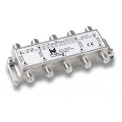 PT-800  Punto de acceso al usuario con distribuidor de 8 salidas a 18 dB con conector F