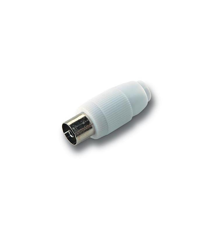 RH-095  Conector recto hembra de 9,5 mm. Ø blindado
