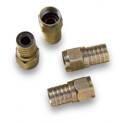 MC-104  Conector F macho para crimpar sobre coaxial Ø 7,0 mm