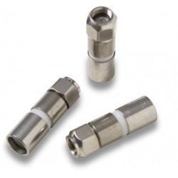 MC-204  Conector F macho para comprimir sobre coaxial RG-11 Ø 10,0 - 10,4 mm.