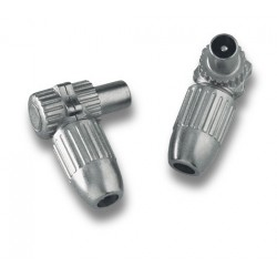 MC-000  Conector IEC 9,52 mm macho para coaxial Ø 6,5 - 7,2 mm