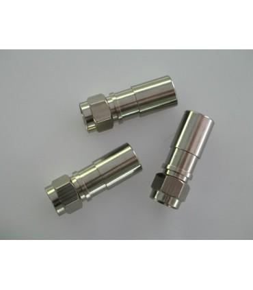 MC-304  Conector F macho para comprimir sobre coaxial ø 6,8 - 7,2 mm