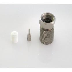 MC-202  Conector F macho para roscar sobre cable coaxial RG-11, ø 10,0 - 10,4 mm