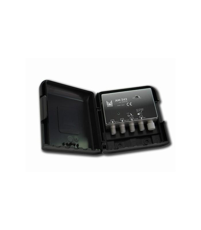 AM-242  Amplificador de mástil 2 entradas, UHF-DAB/FM
