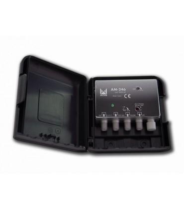 AM-246  Amplificador de mástil 2 entradas, UHF-DAB/FM