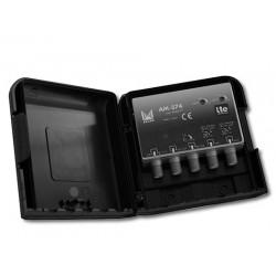 AM-374  AMPLI UHF-UHF-BIII/DAB 34 dB LTE MASTIL 12Vdc