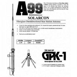 A-99 - Antena base vertical CB de 26-31 MHz., fibra de vidrio