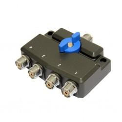 DX-SW-4-M - Conmutador coaxial 4 posiciones