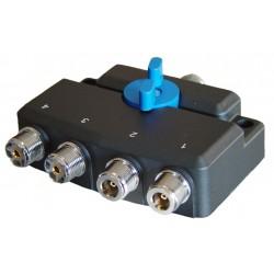 DX-SW-4-MIX - Conmutador coaxial 4 posiciones, 2 N + 2 PL